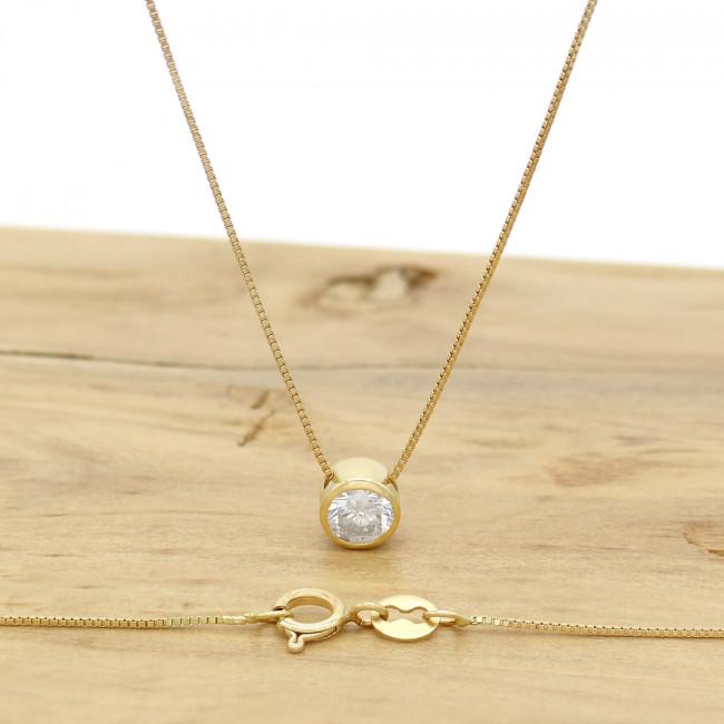6656011cfaab0 Ponto de Luz com Diamante de 20 Pontos, em Ouro Amarelo 18 Kilates