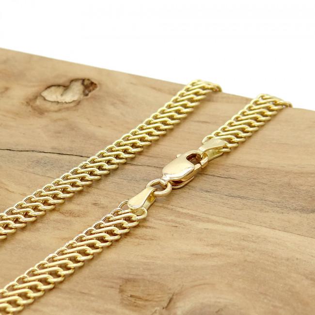 Corrente Malha Lacraia de 45 cm, em Ouro Amarelo 18 Kilates 0955c93cbf