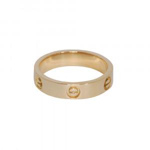 82de6f631f6 Anel aliança love em ouro 18k com diamantes