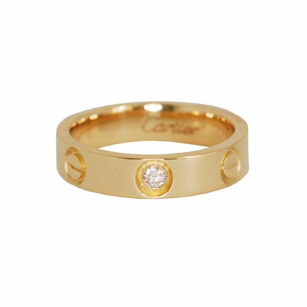 1b30ba81bdd Anel aliança love em ouro 18k com diamante